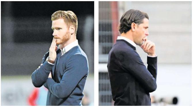 Sind heute Gegner: Luganos Guillermo Abascal (links) und Gerardo Seoane. (Bilder: Andy Müller und Martin Meienberger/Freshfocus)